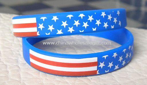100% silicone Glow-in-Dark Awareness Bracelets