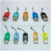 Portable USB 2.0 Mini Card Reader for T-FLASH Micro SD images