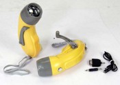 Crank Dynamo Flashlight Torch images
