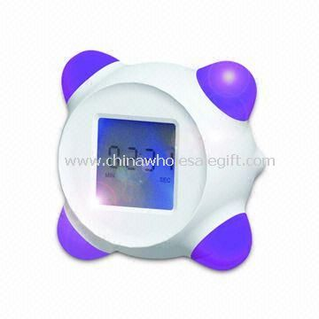 Color Changing LCD Plastic Clock