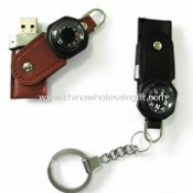 USB Flash Drive Keychain with Compass or Thermometer images