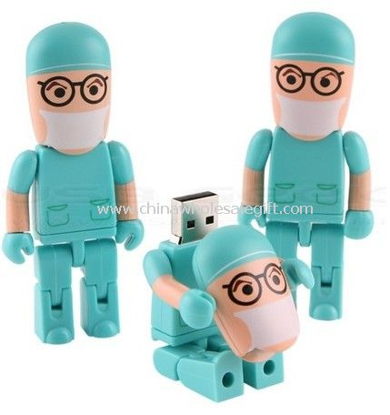 Cartoon doctor USB Flash Drive