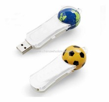 Liquid USB Flash Drive with Floating Soccer Ball images