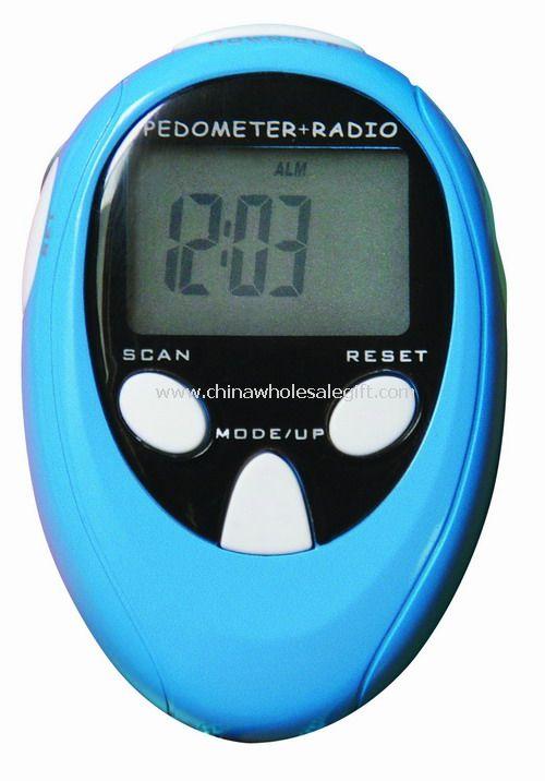 Stopwatch Pedometer with Fm Radio