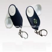 LED Magnifier Keychain with Compass images