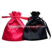 Satin Gift Bag with Embroidery Logo images