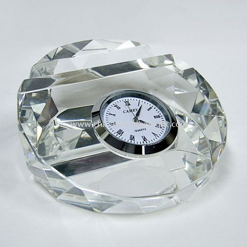 Crystal Card holder with Watch