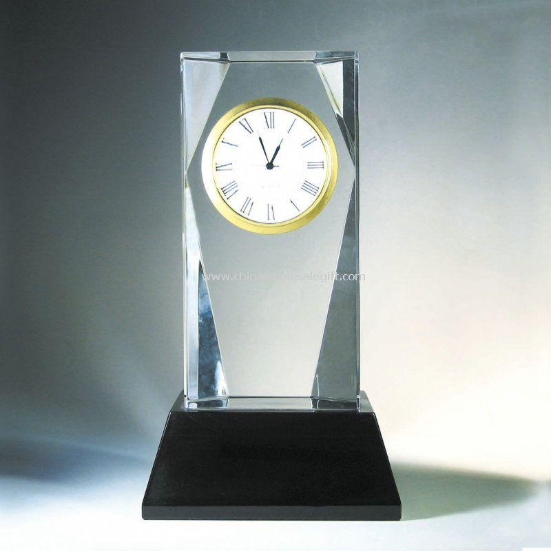 Crystal Clock Trophy
