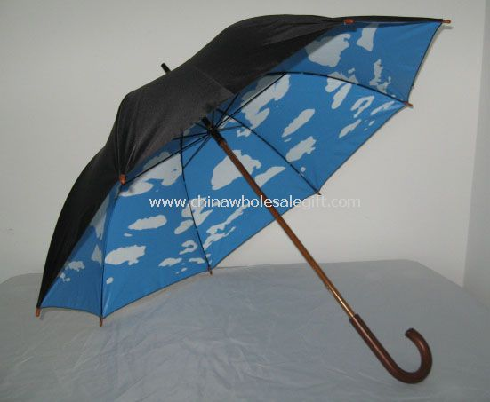 Blue Sky White Clouds Golf Umbrella