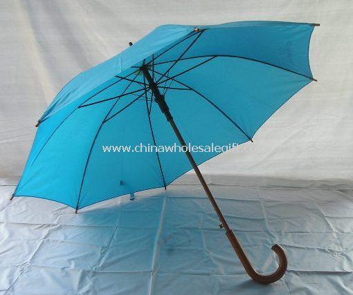 Wood Straight Umbrella