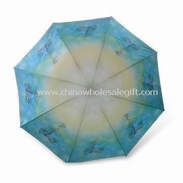 Steel shaft 3-Fold Umbrella