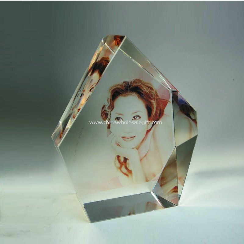 Crystal Colour Painting Photo Frame