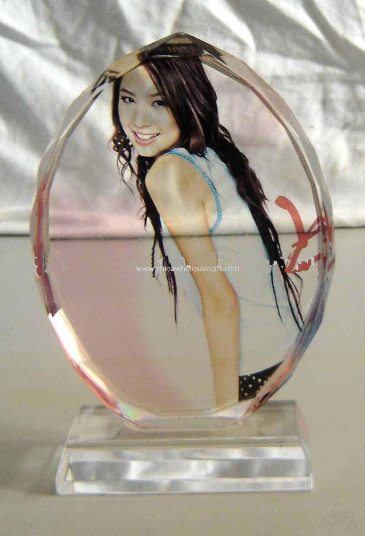 Oval Crystal Photo Frame