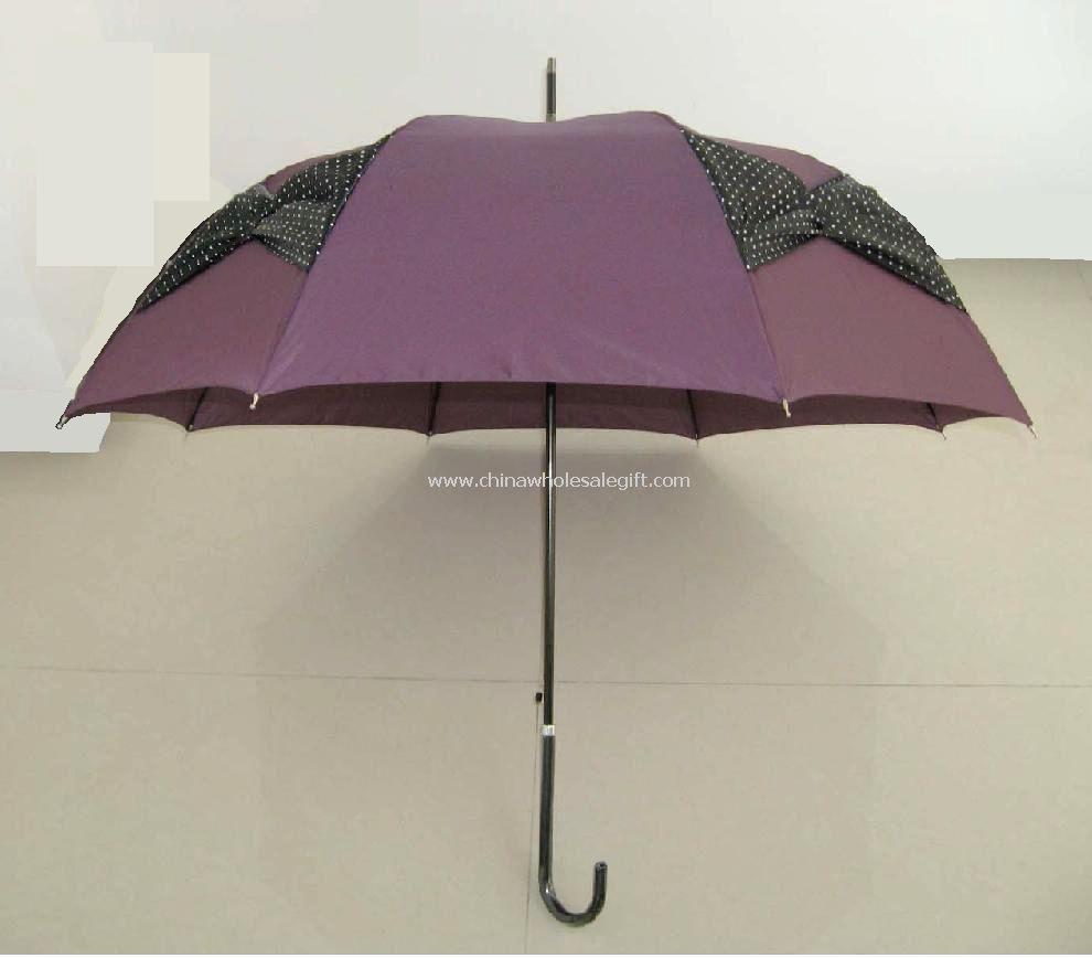 Black Bowknot Wedding Umbrella