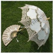 Wedding Lace Umbrella with Fans images
