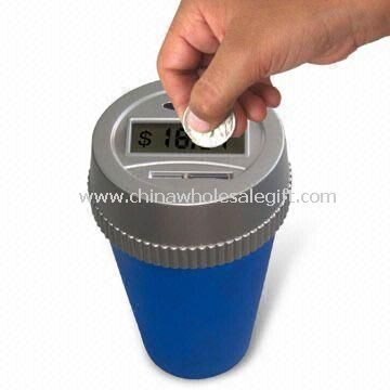 Kid Auto Coin Counting Mug with Manual Counter Adjustment