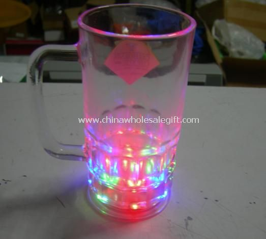 Light Up Glass Beer Mug