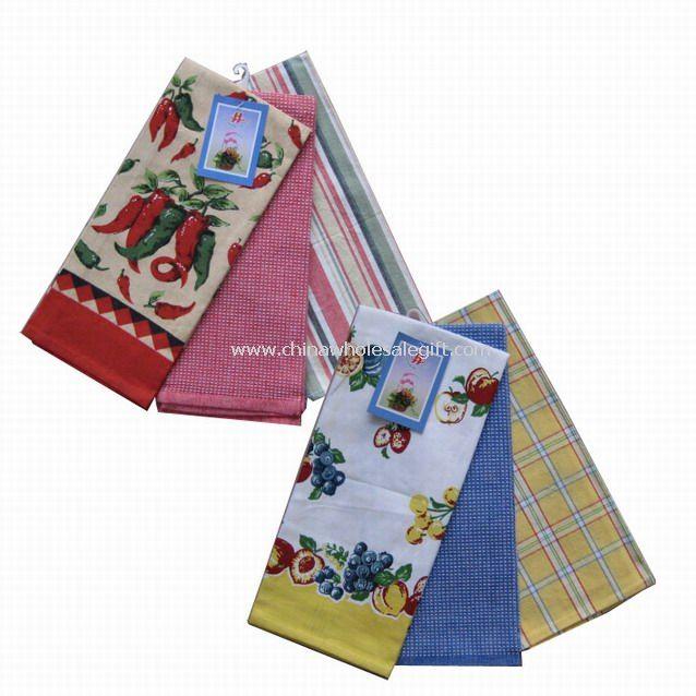 100% Cotton Printed Tea Towel