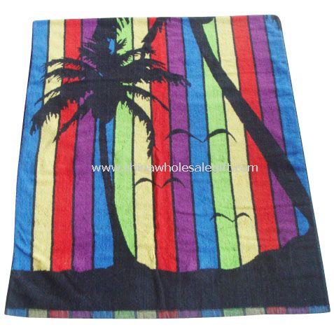 100% Cotton Jacquard Yarn-Dyed Beach Towel
