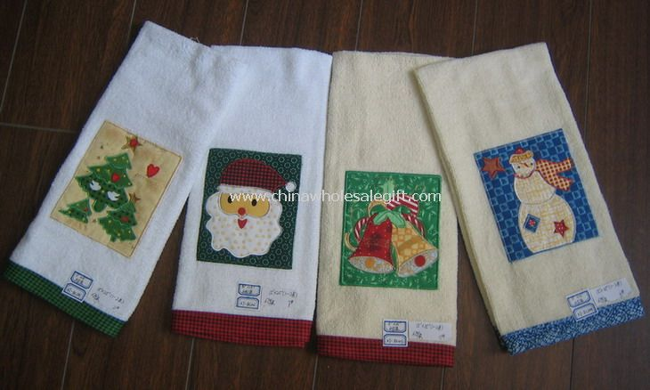 Applique Embroidered Kitchen Towel