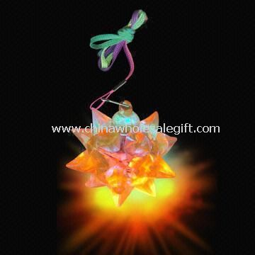 Flashing Crystal Star Balls with Colored Ropes