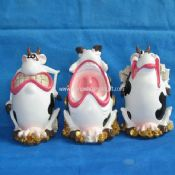 Polyresin Funny Cow Money Bank images