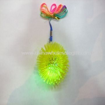 Plastic Flashing Yoyo Ball Necklace