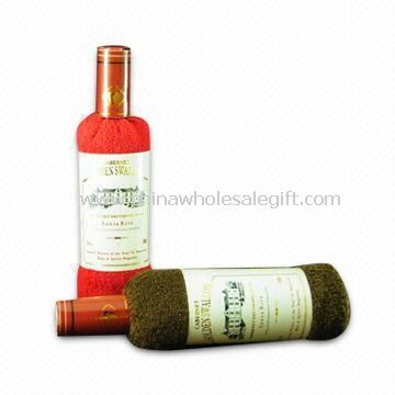 Wine Bottle-shaped Towels