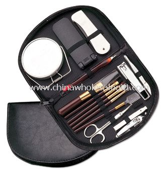 14 In 1 Makeup Kit & Manicure Set With PU Leather Pouch