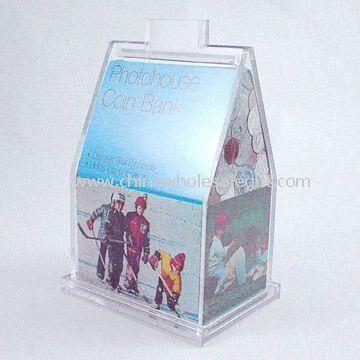 Acrylic Photo House Coin Bank