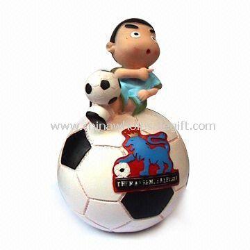 Coin Bank with Cartoon Football Design