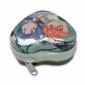 Heart-shaped Money Box with Zipper and Glossy Finish images