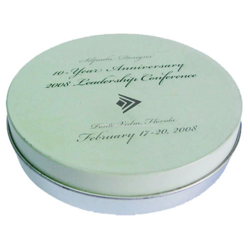 Round Cosmetic Tin Box