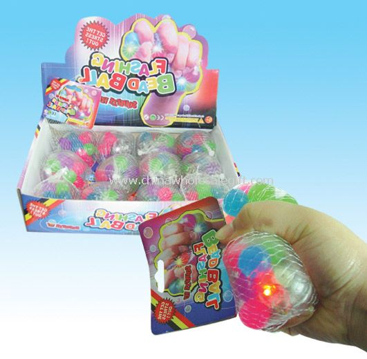 Flashing Squeeze Beads Ball