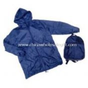 Nylon Backpack with raincoat images