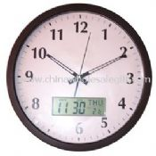 Promotional Wall Clock with LCD Display images