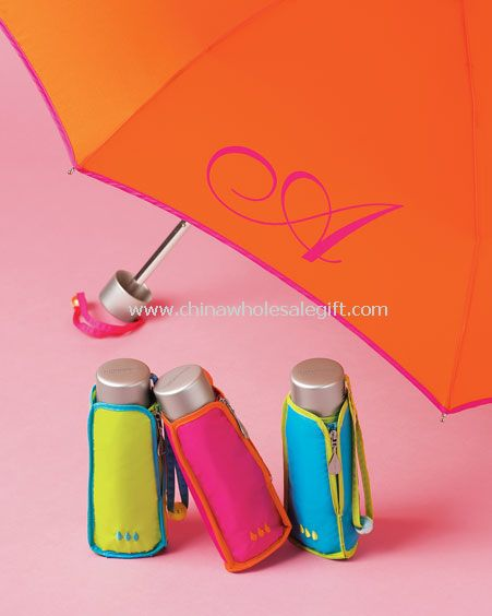 4 doble paraguas abierto del mini super mano