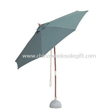Outdoor wooden umbrella