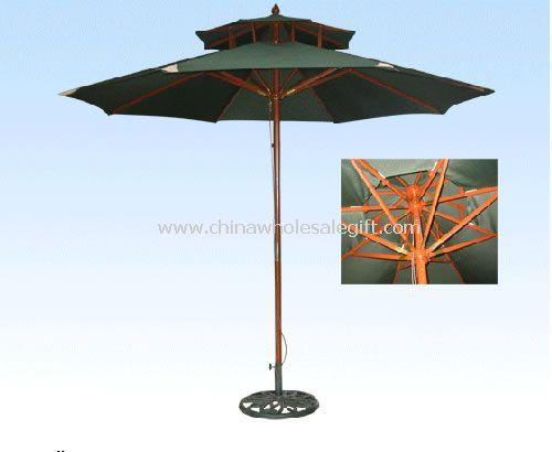 Wooden Double Layer Umbrella