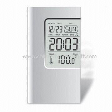 LCD Calendar Clock with Alarm and Temperature Function