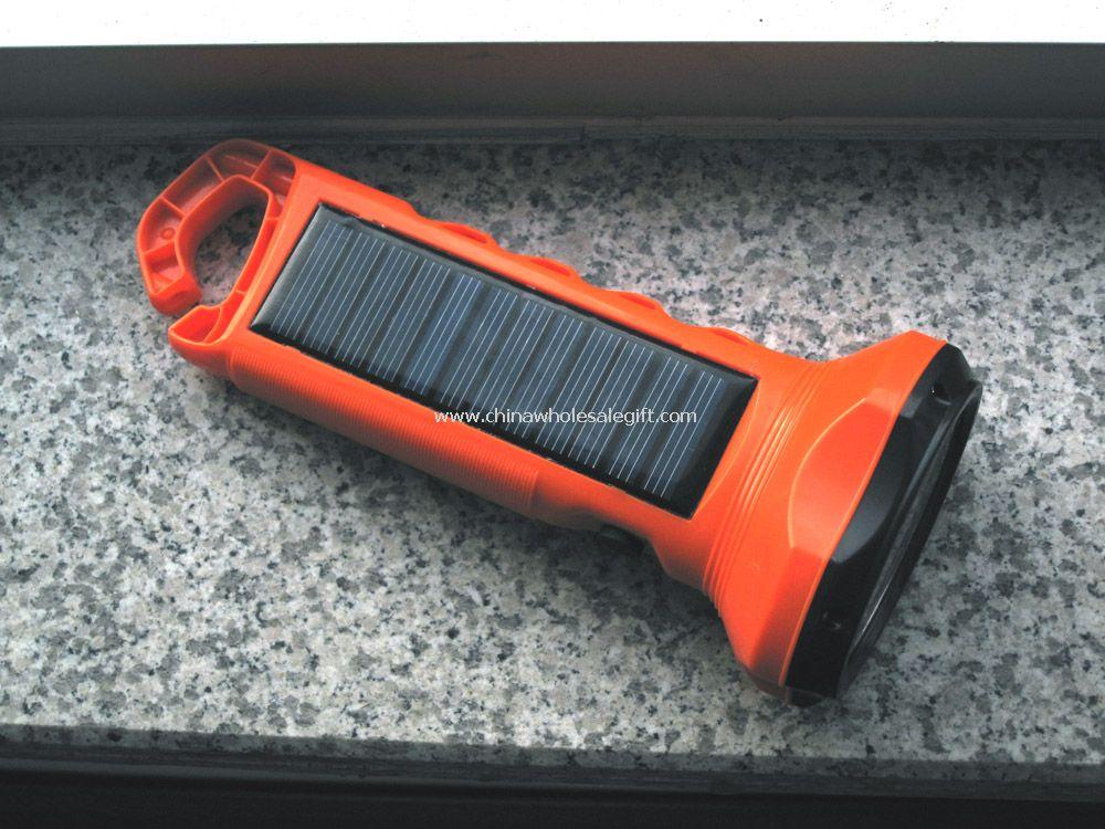 white LED Solar Flashlight