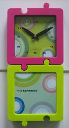 Funny clock with photoframe images