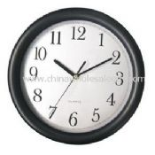 black frame with silver PVC dial wall clock images