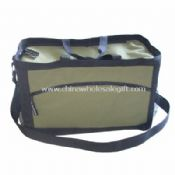 Ripstop and 600D shell fabric with stripes Cooler Bag images