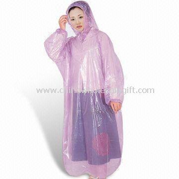 PE Disposable Rain Poncho