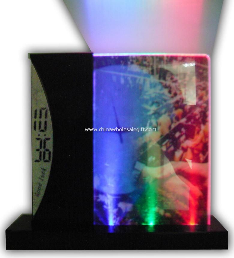 LCD Transparent Clock with Photo Frame