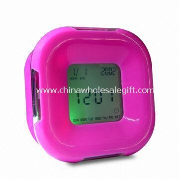 Four-sided Plastic LCD Clock