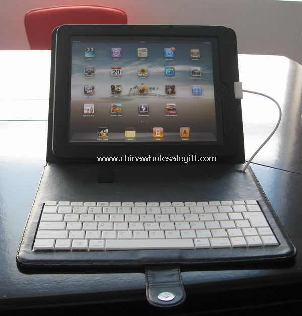 iPad keyboard with iPad case