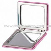 Square compact cosmetic mirror images