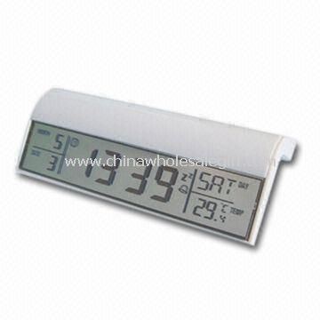 Plastic LCD Clock with Large Space Printing